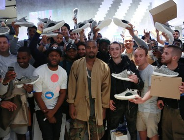 Kanye West Surprised Fans At Adidas Yeezy Boost 350 Launch In UK