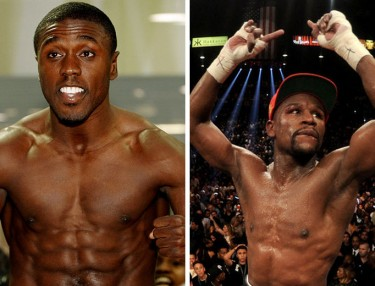 Andre Berto and Floyd Mayweather