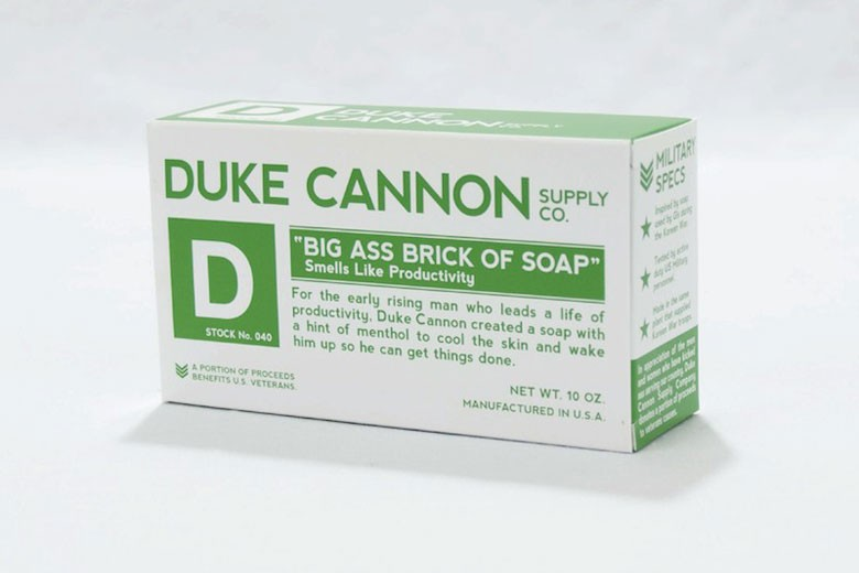 Duke Cannon Big Ass Brick of Soap (White Bar)