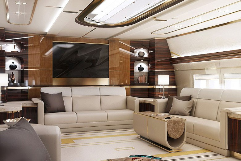 Inside Mystery Billionaire's $626 Million Custom Jumbo Jet