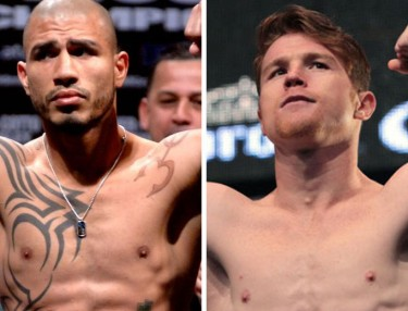 Miguel Cotto and Saul 'Canelo' Alvarez