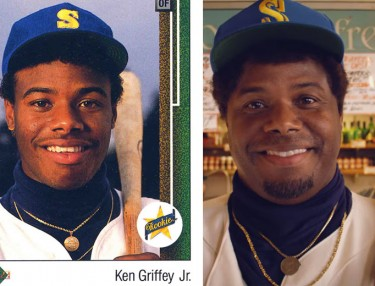 Ken Griffey Jr. rookie card and Macklemore video cameo