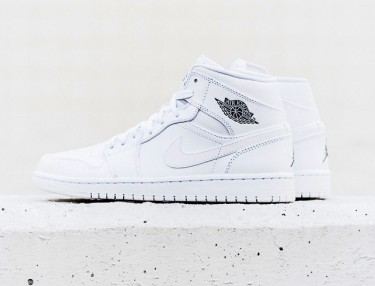 Air Jordan 1 Mid - White/Cool Grey
