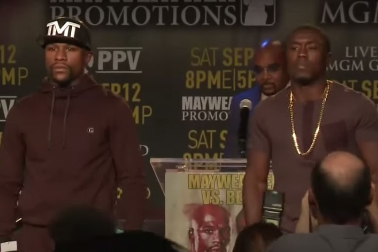 Floyd Mayweather and Andre Berto
