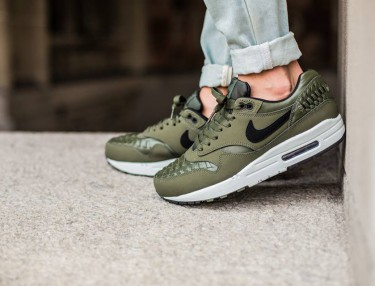 Nike Air Max 1 Woven - Carbon Green