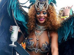 Rihanna Flaunts Curves During Barbados' Kadooment Day Parade