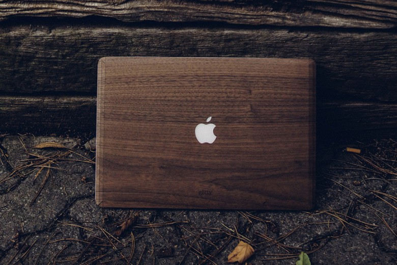 Wood Apple MacBook Covers By Glitty