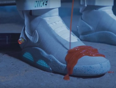 Crep Protect Spills Ketchup On A Pair Of Nike Air MAGs