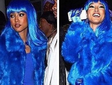 Karrueche Dresses Like Lil Kim For Halloween