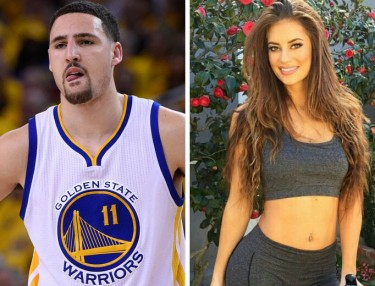 Klay Thompson and Hannah Stocking