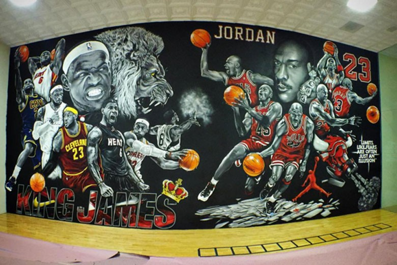 Rick Ross basketball court by Jay Mack