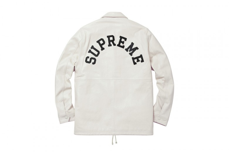 Supreme x Champion Leather Coaches Jacket