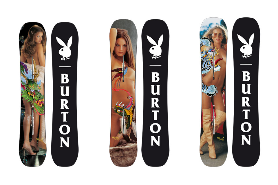 Playboy x Burton Winter 2016 Snowboard Collection