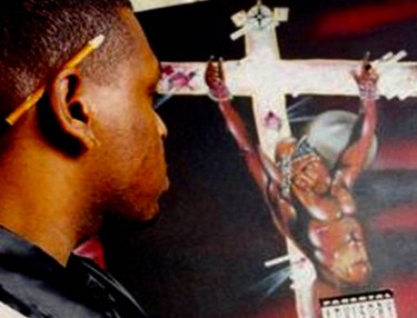 Riskie Talks Painting Tupac's Makaveli Album Cover