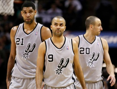 Spurs - Tim Duncan, Tony Parker and Manu Ginobili