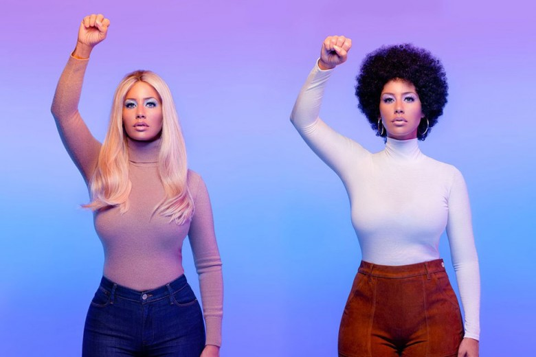 Amber Rose as Gloria Steinem and Dorothy Pitman Hughes.