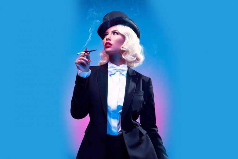 Amber Rose as Marlene Dietrich.