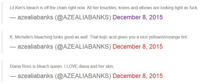 Azealia Banks Accuses Lil Kim, K. Michelle Over Bleaching