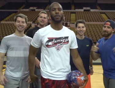 Watch Chris Paul & Aaron Rodgers Hit Insane Trick Shots