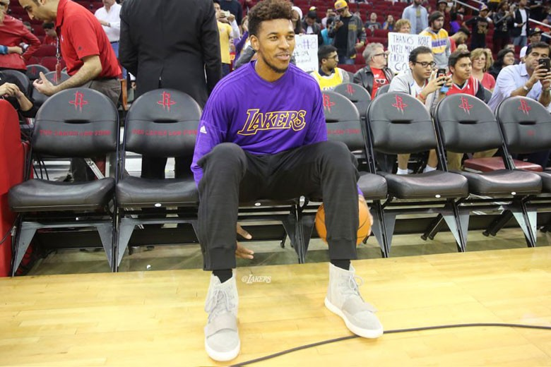 Nick Young rocking Yeezy Boosts