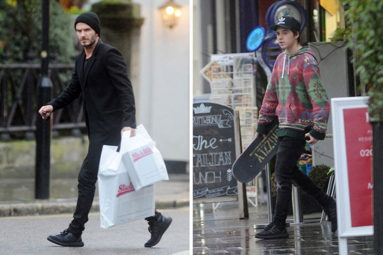 David Beckham Spotted In Adidas Ultra Boost/Yeezy Hybrid