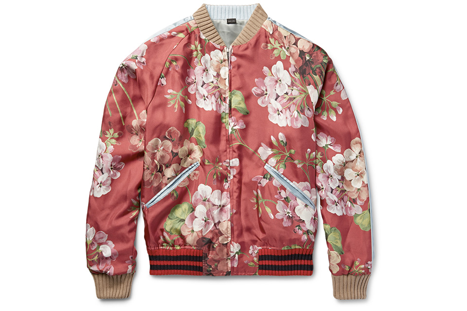 Gucci reversible floral silk bomber mightylinksfo