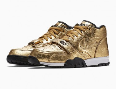 Nike Drops Two Gold Colorways For Super Bowl 50