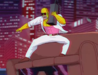 The Simpsons Miami Vice-Inspired Couch Gag