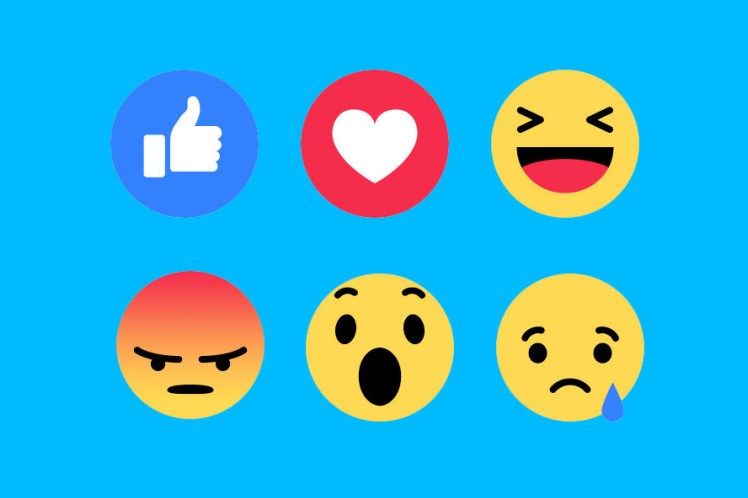 Facebook Introduces Like Button 'Reactions'