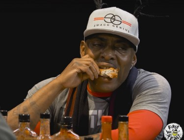 Coolio Talks Hip-Hop Cooking While Eating Spicy Wings