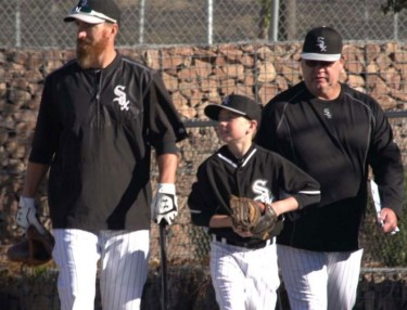 Adam LaRoche and son Drake