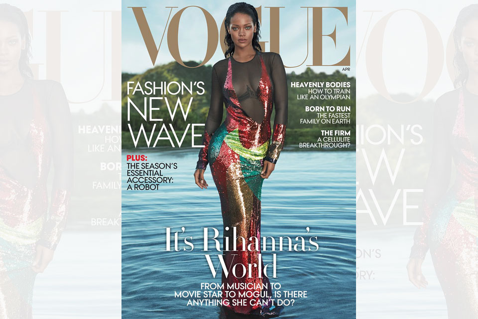 Rihanna Covers April 2016 Vogue Issue