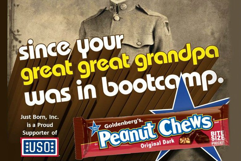 Goldenberg's Peanut Chews, Proudly Feeding Servicemen Since WW1