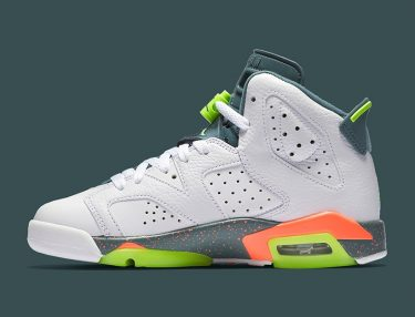 Air Jordan 6 GS -- Ghost Green/Hasta/Bright Mango