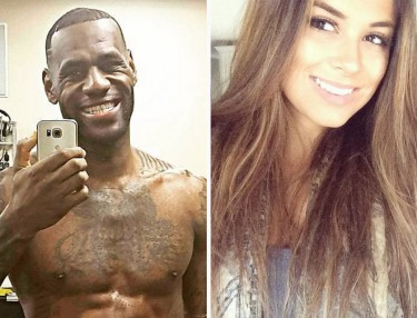 LeBron James and Rachel Bush