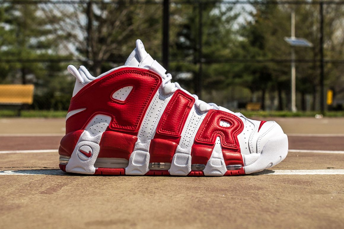 Nike Air More Uptempo White/Gym Red