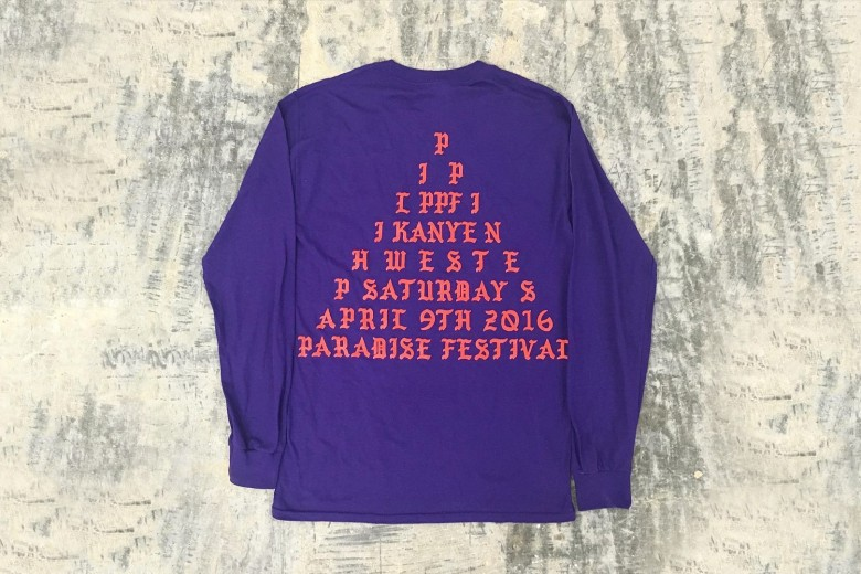 Here's Kanye West's Paradise Music Festival Merchandise