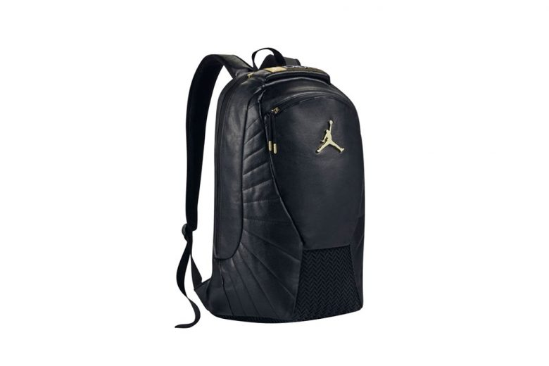 air jordan black leather backpack
