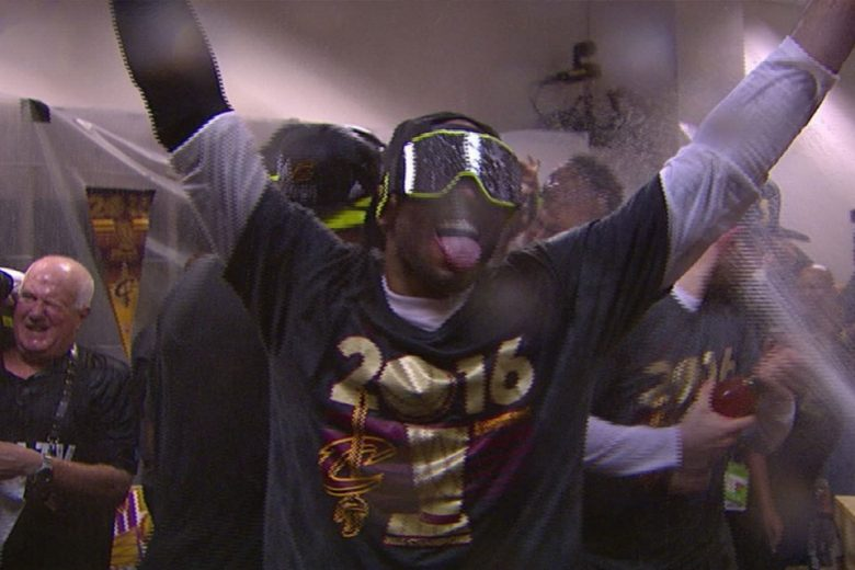 LeBron James & Cavs Turn Up in Locker Room Celebration