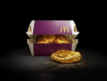 McDonald's 18-karat gold nugget