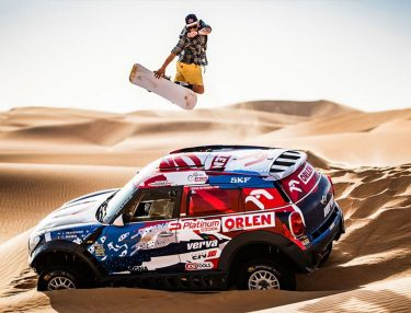 Red Bull Goes Snowboarding in the Dunes of Dakar