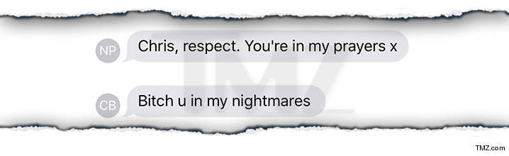 Chris Brown text messages.