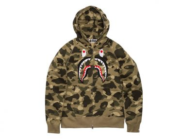 BAPE's Full-Zip Shark Hoodies