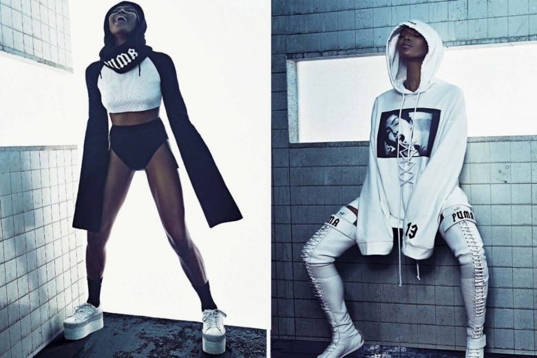 Naomi Campbell Models Rihanna's Fall 2016 PUMA Fenty Collection