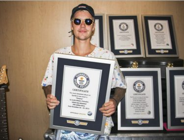 Justin Bieber Lands Eight Guinness World Records