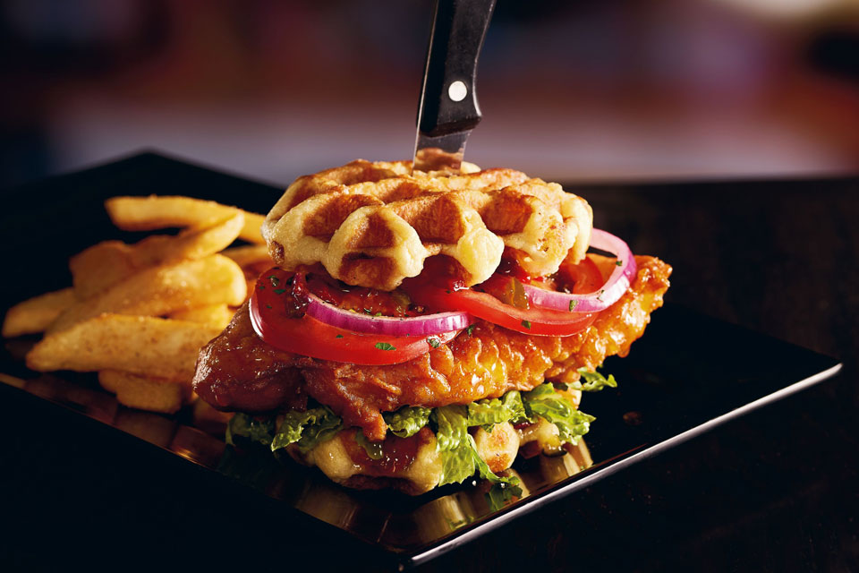 Red Robin Chicken & Waffles Burger