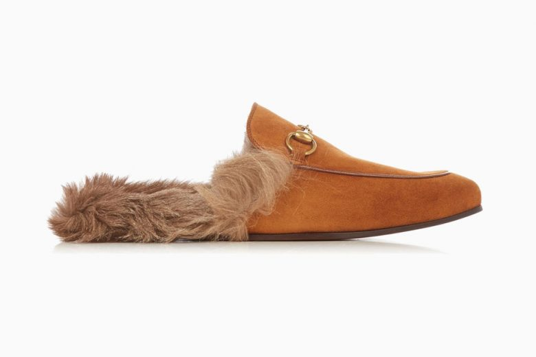Gucci Drops Princetown in Tan Suede