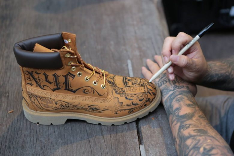 Mister Cartoon custom Timberland Boots