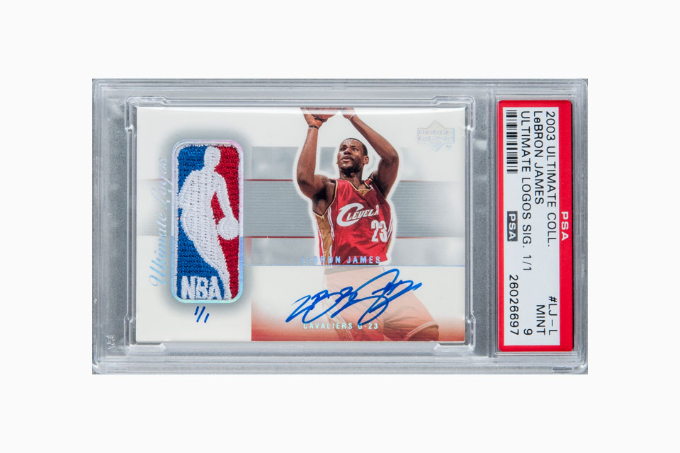 Signed LeBron James Rookie Card Fetches $312K at Auction