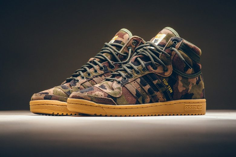 Adidas Originals Top Ten Hi Camo
